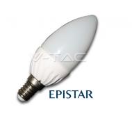 LAMPADINA LED ATTACCO E14 4215 6W 230V BIANCO CALDO CANDELA V-TAC 15 PZ