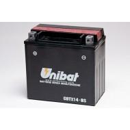 BATTERIA MOTO SCOOTER UNIBAT 12V 12AH CBTX14-BS EQUIVALENTE YTX14-BS CBTX14 YTX14