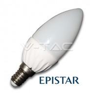 LAMPADINA LED E14 4W BIANCO CALDO A CANDELA