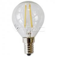 LAMPADINA LED E14 4W FILAMENTO BIANCO CALDO A BULBO