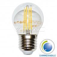LAMPADINA LED E27 4W FILAMENTO BIANCO CALDO DIMMERABILE